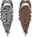 Beard and mustache illustration Stock Photos