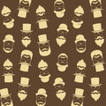 Bearded hipster pattern with glasses, moustaches, hat. Gentleman