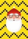 Bearded hipster Santa Claus