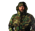 Bearded man wearing gortex jacket Royalty Free Stock Images