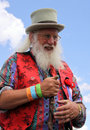Bearded story teller at Guilfest Festival Royalty Free Stock Photo