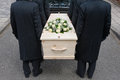Bearers with coffin Royalty Free Stock Photo