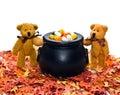 Bears with Cauldron Stock Photography