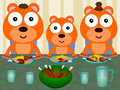 Bears eat together illustration of a family made up of eating Stock Photography