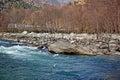 Beas River at Manali in India Royalty Free Stock Photo