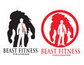 Beast fitness logo vector design of or business identity Stock Photography