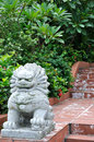 Beast statuary of Chinese style in park Royalty Free Stock Photos