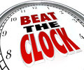 Beat the Clock Words Deadline Countdown Royalty Free Stock Images
