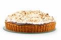 Beaten egg whites dessert isolated on white Stock Images