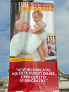 Beatification of pope john paul ii a sign in rome marks the ceremony the step before canonization in the process being a saint Royalty Free Stock Photos