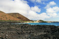 The beatiful shoreline of the galapagos islands this picture was take in in in summer Royalty Free Stock Photography
