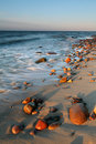 Beatiful sunset on beach Stock Image