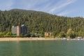 Beatiful view at lake, Harrison Hot Springs, British Columbia, Canada Royalty Free Stock Photo