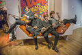 The beatles in famous wax museum madame tussauds london england Royalty Free Stock Images