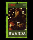Beatles Postage Stamp from Rwanda Royalty Free Stock Photo