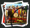 The Beatles UK Postage Stamp Royalty Free Stock Photo