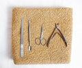 Beaty salon staff objects close up Stock Image
