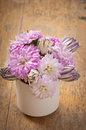 Beau bouquet de fleur d aster Images stock