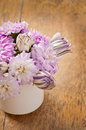 Beau bouquet de fleur d aster Photos stock
