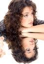 Beau brunette Images libres de droits
