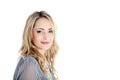 Beau femme blond avec le copyspace Photographie stock libre de droits