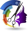 Beautician logo Royalty Free Stock Photo