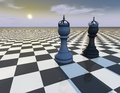 Beautiful abstract background with chess pieces, surreal illustration Royalty Free Stock Photo