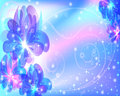 Beautiful abstract background with flowers soft bright glowing stars and sparks Royalty Free Stock Photography