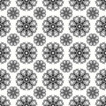 Beautiful abstract gray snowflakes on a white background seamless pattern vector illustration Royalty Free Stock Photo