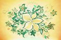 Beautiful abstract illustration of flowers leaves different sizes Royalty Free Stock Photo