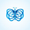 Beautiful abstract spring blue butterfly Stock Images