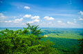 Beautiful aerial landscape views from crowders mountain north ca near gastonia carolina Royalty Free Stock Photography