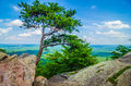 Beautiful aerial landscape views from crowders mountain north ca near gastonia carolina Stock Photography