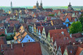 Beautiful Aerial View at Rothenburg ob der Tauber Royalty Free Stock Photo