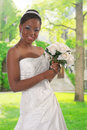 Beautiful African American Bride Portrait Outdoor Royalty Free Stock Photography