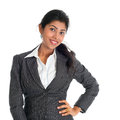 Beautiful african american businesswoman portrait of attractive in business suit isolated over white background mixed race asian Royalty Free Stock Image