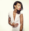 Beautiful African American fashion model Royalty Free Stock Photos