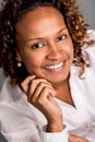 Beautiful african american woman smiling and looking happy Stock Photos