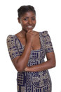Beautiful african woman with traditional clothes Stock Photography
