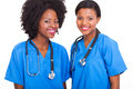 Beautiful afro american interns nurses Royalty Free Stock Photography