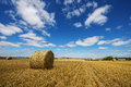 Beautiful agricultural landscape an after harvest Stock Photos