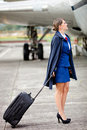 Beautiful air hostess Royalty Free Stock Images