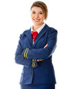 Beautiful air hostess Stock Photo