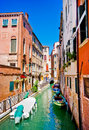 Beautiful alley in Venice. Royalty Free Stock Photos