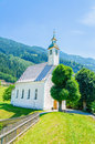 Beautiful alpine landscape with church, Austria Royalty Free Stock Photo