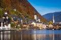 Beautiful alpine village Hallstatt, Austria Royalty Free Stock Photo