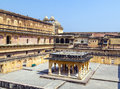 Beautiful amber fort near jaipur city in india rajasthan Royalty Free Stock Photography
