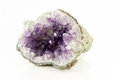Beautiful amethyst druse a white background