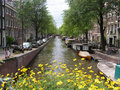 Beautiful amsterdam sunny day in along the river Royalty Free Stock Images