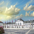 Beautiful ancient building and square of bratislava slovakia Stock Image